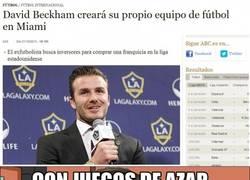 Enlace a El equipo de David Beckham