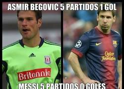 Enlace a Asmir Begović vs Leo Messi