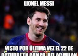 Enlace a ¿Alguien ha visto a Leo Messi?