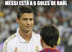 Enlace a Messi está a 6 goles de Raúl