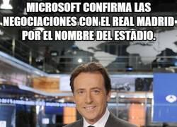 Enlace a Microsoft confirma las negociaciones con el real madrid por el nombre del estadio.