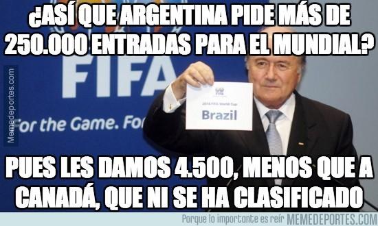 205364 - ¿Así que Argentina pide más de 250.000 entradas para el mundial?