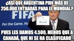Enlace a ¿Así que Argentina pide más de 250.000 entradas para el mundial?