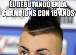 Enlace a Él debutando en la Champions con 16 años