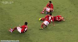 Enlace a GIF: ¿Celebración? del Flamengo
