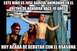 Enlace a José García, cumpliendo su sueño