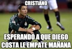 Enlace a Cristiano esperando a que Diego Costa le empate en la tabla del pichichi