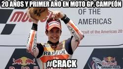 Enlace a 20 años y primer año en MotoGP, Campeón