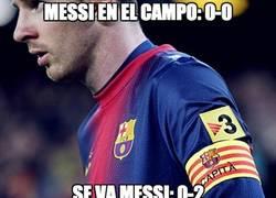 Enlace a Del 0-0 al 0-2 tras lesionarse Messi