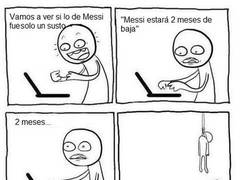 Enlace a 2 meses sin Leo Messi