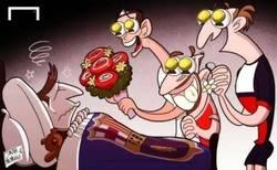 Enlace a Cristiano, Ribery y Ibrahimovic y su disimulada alegría ante la lesión de Messi