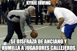 Enlace a Kyrie Irving troleando al personal