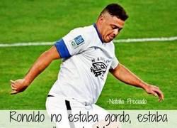 Enlace a Ronaldo Nazario no estaba gordo