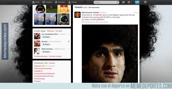 210208 - Así es el perfil de twitter de Fellaini, la cosa va de pelos