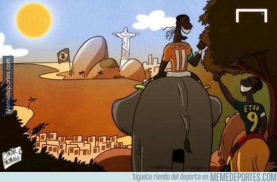 211559 - Drogba y Etoo de camino al Mundial de brasil