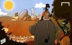 Enlace a Drogba y Etoo de camino al Mundial de brasil