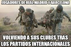 Enlace a Jugadores de Real Madrid y Barcelona
