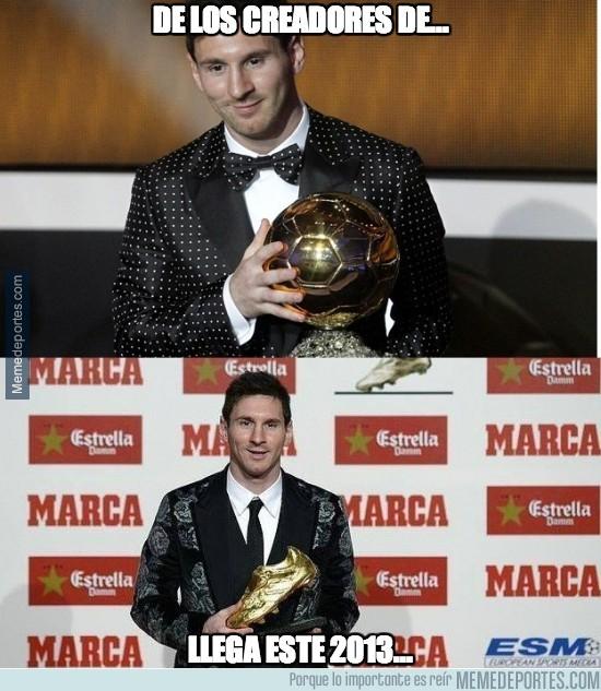 212829 - La afición de Messi por los trajes raros