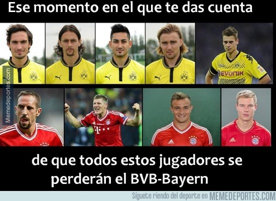 213710 - Muchas bajas para el BVB-Bayern