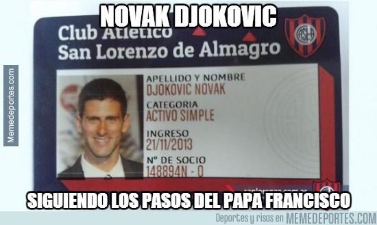 213802 - Novak Djokovic siguiendo los pasos del Papa