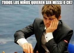 Enlace a Magnus Carlsen no soñaba con ser Messi ni CR7