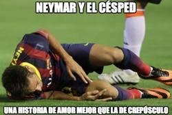 Enlace a Neymar y el césped