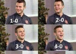 Enlace a Reacción de Wilshere al ver que el Tottenham perdió 0-6