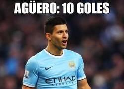 Enlace a Agüero: 10 goles