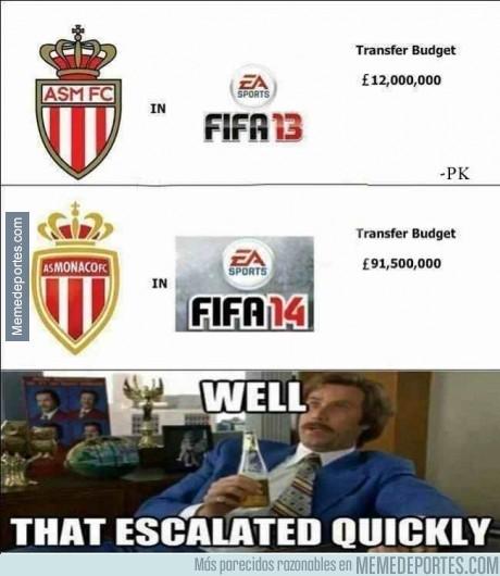 215609 - Increíble aumento de presupuesto del Monaco en el FIFA