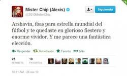 Enlace a Mister Chip calando a Arshavin