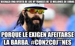 Enlace a Rechaza una oferta de los NY Yankees de 13 millones de euros