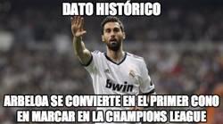 Enlace a Dato histórico, primer cono en marcar en Champions League