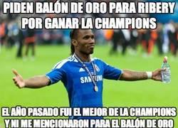 Enlace a Piden Balón de Oro para Ribery por ganar la Champions