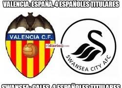 Enlace a Españoles en el Swansea - Valencia