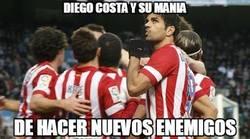 Enlace a Diego Costa haciendo callar a la afición del Elche