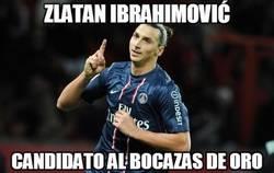 Enlace a Zlatan Ibrahimović, candidato al bocazas de oro