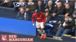 Enlace a GIF: Fan se aprovecha de Patrice Evra tras celebración del empate del Manchester United
