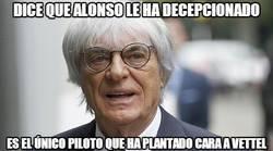 Enlace a Dice que Alonso le ha decepcionado