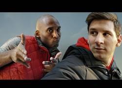 Enlace a VÍDEO: Messi vs Kobe, duelo de autofotos