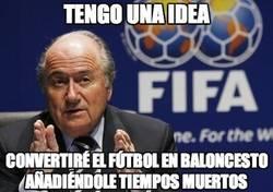 Enlace a Vaya cagada, Blatter