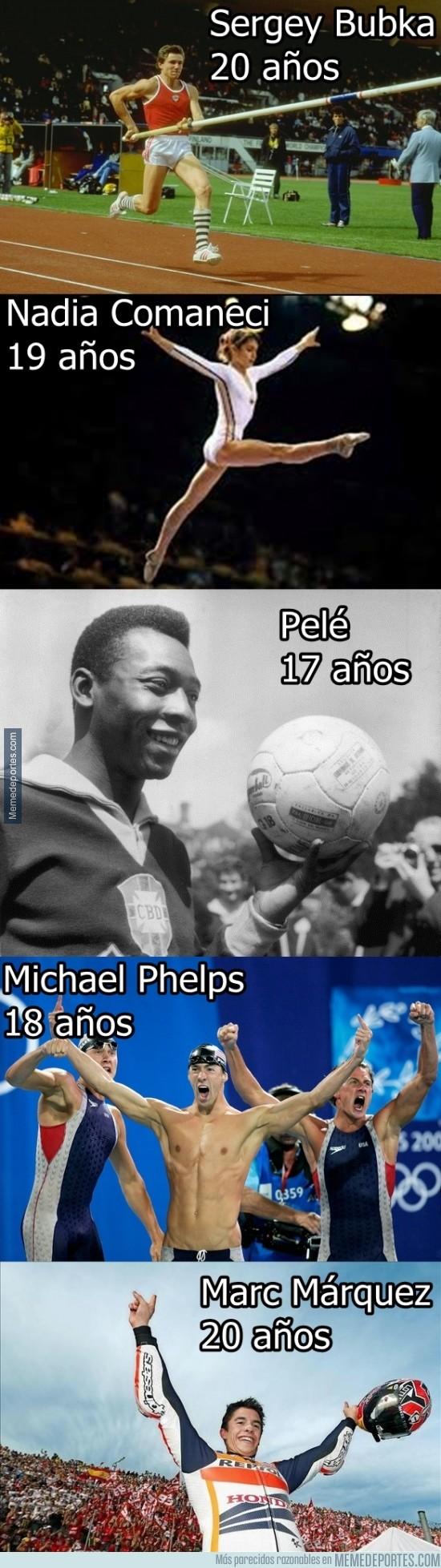 221956 - Los 5 atletas en lograr un mundial con 20 años o menos