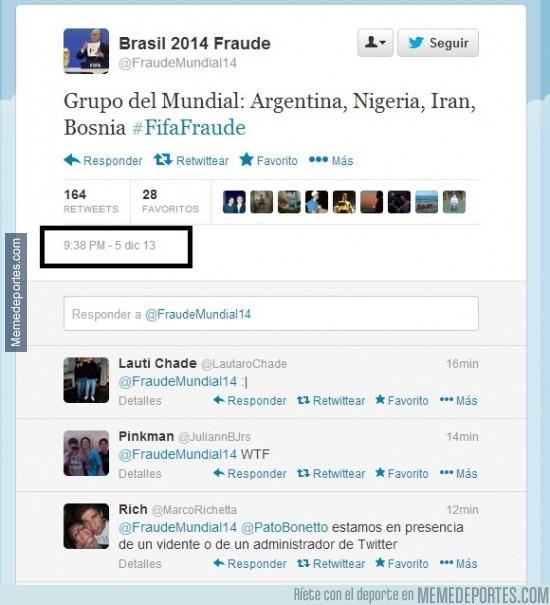 222308 - Una cuenta de Twitter sabía cómo iba ser el grupo de Argentina