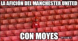 Enlace a La afición del Manchester United con Moyes