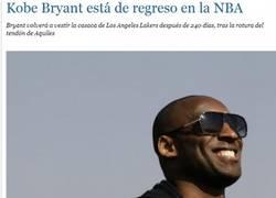 Enlace a Kobe Bryant está de regreso