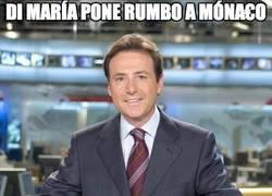 Enlace a Di María pone rumbo a Móna€o