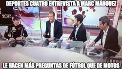 Enlace a Deportes cuatro entrevista a Marc Márquez