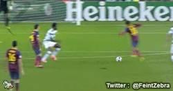 Enlace a GIF: Y sigue el tiki taka, Neymar marca su segundo gol ante el Celtic
