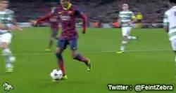 Enlace a GIF: Jugadón, caño y hat-trick. Éste es Neymar