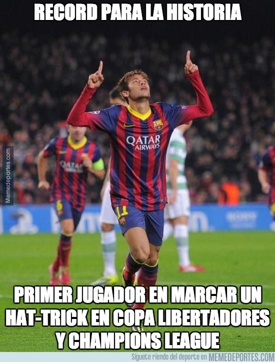 226116 - Neymar, hat-trick y récord