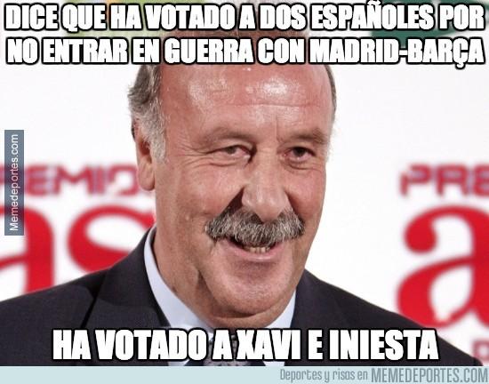 226580 - Dice que ha votado a dos españoles por no entrar en guerra con Madrid-Barça